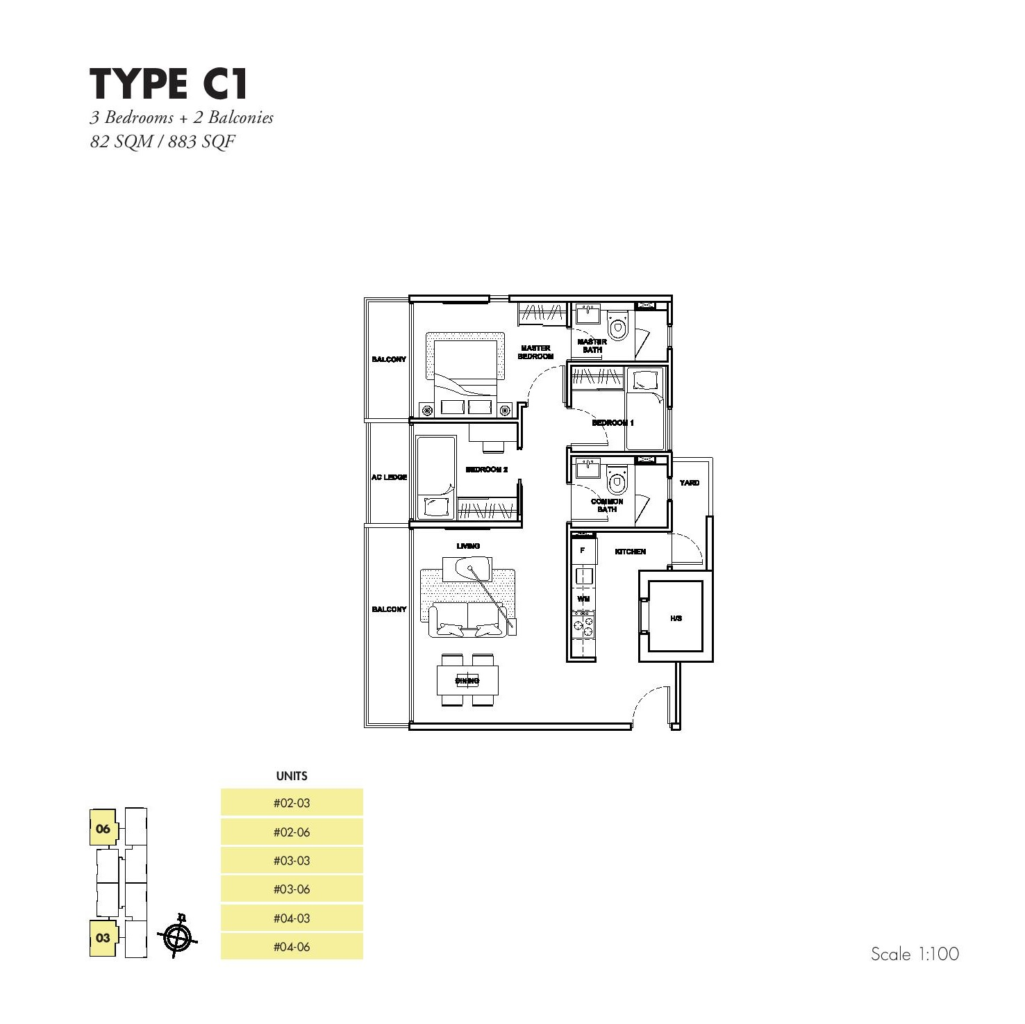 3 Bedroom - Garden Park Residences